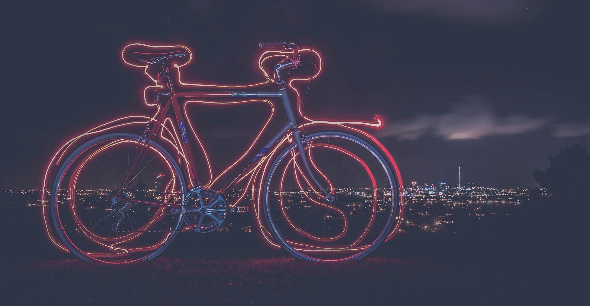 Light painting sécurité vélo lumière - Classical Bicycles