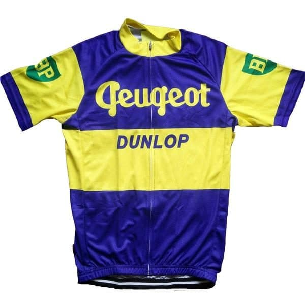 Maillot retro Peugeot BP Dunlop 1961 - Classical Bicycles