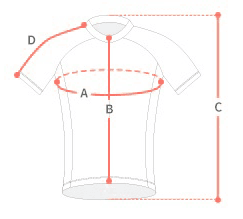mesures taille maillot velo