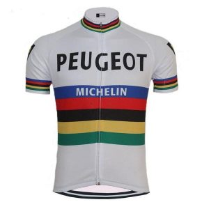 Maillot Champion Du Monde Peugeot Michelin 1965 - Classical Bicycles